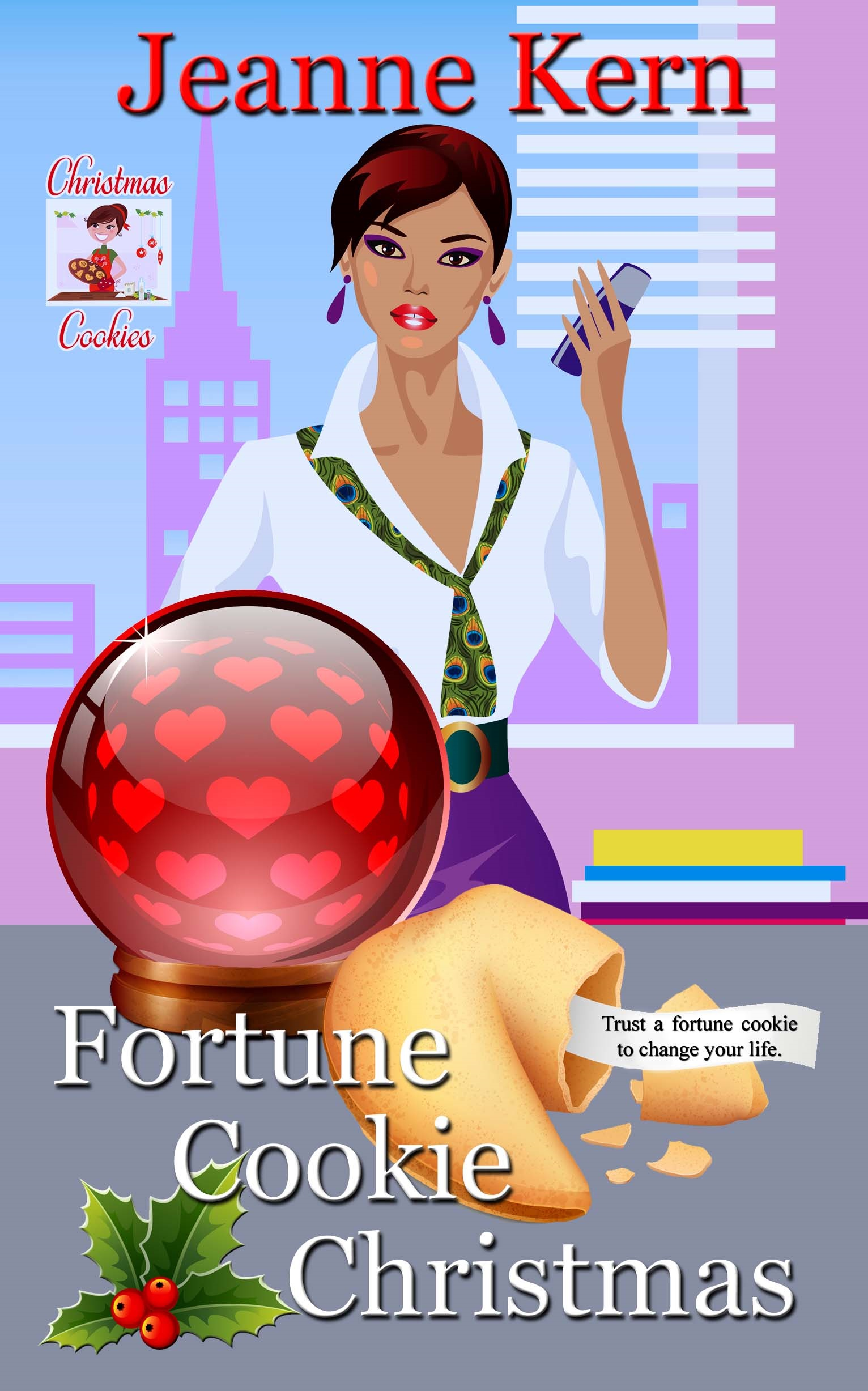 image shows cover of book Fortune Cookie Christmas